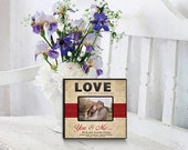 LOVE, You & Me 4x6 Photo Frame CUSTOM PERSONALIZED Laser Engraved