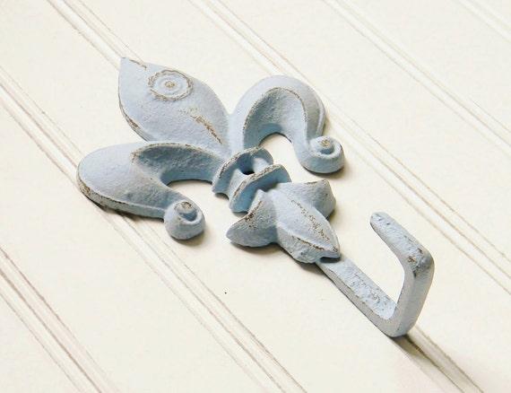 Fleur de lis wall hook wall hooks decorative coat hook cast - Fleur de lis coat hook ...