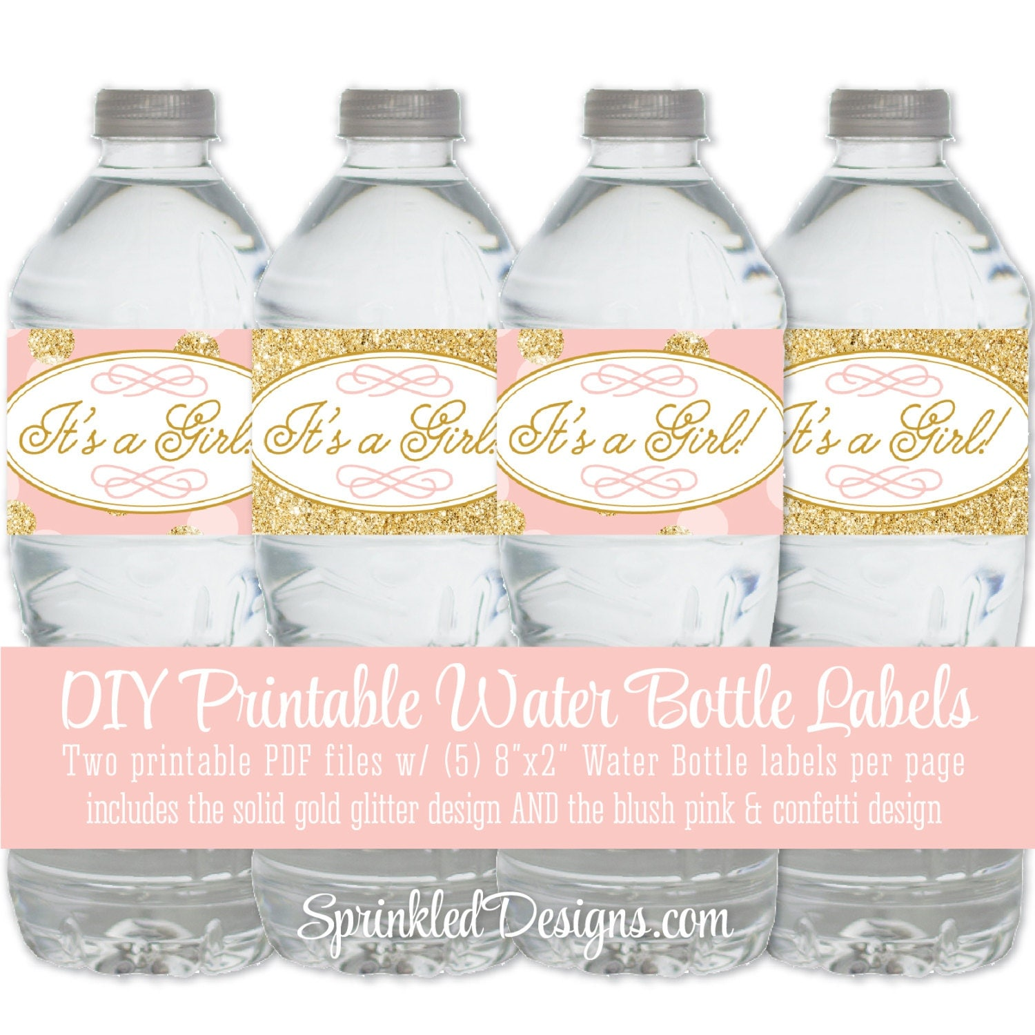 printable baby shower water bottle labels it 39 s a girl