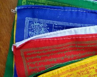 TIBETAN Prayer Flag Set, Tibetan Prayer Flag Roll, Tibetan Prayer Flag Bundle, Prayer Flags, Cotton Prayer Flag, Lung ta, Air Magic,