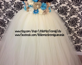 Vintage Couture Flower Girl Tutu Dress, Flower Girl Tutu Dress, Flower Girl Tutu Dress, Flower Tutu Dress, Destination Flower Girl  Dress