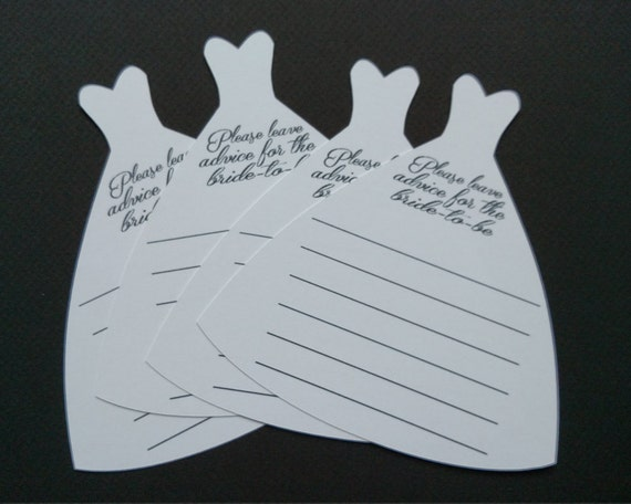 wedding dress advice cards for bridal shower 12ct