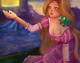 Rapunzel inspired print