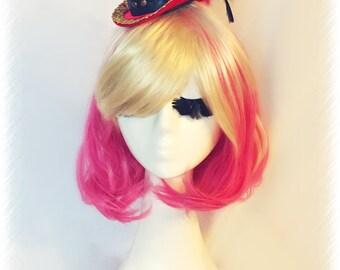 Pink & Blonde Wig Bob Style / Harajuku Wig / Handmade Long Bangs Cosplay Hair