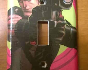 Grayson Comic Book superhero light switch cover