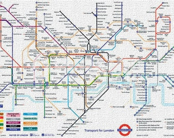 The London Underground Map (size 610x910mm)