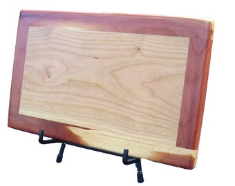 Cherry & Cedar Cutting Board | Two-Tone Chopping Block | Food Safe | Gifts for Foodies | Kitchen Cutting Board | Serving Tray | Cheese Board