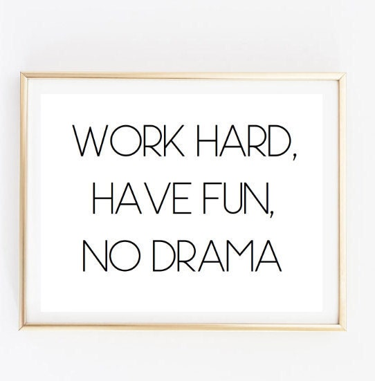 Fun With Work Quotes: Work Hard Have Fun Inspirational Tumblr Quote Typographic