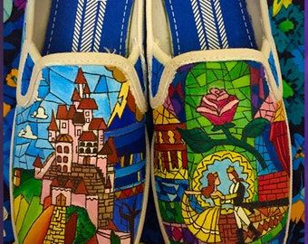 Custom made Beauty and the Beast Keds  Designed and personalized just for you!
