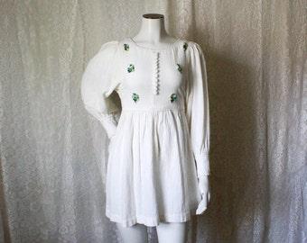 Poet Sleeve Mini Dress - XS/S