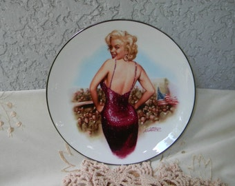Vintage Marilyn Monroe Plate Collectible For Our Boys in Korea Limited Edition Numbered Plate 1992