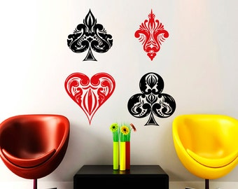 Poker decal Etsy