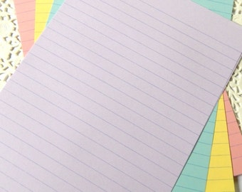 Pastel Notebook Paper. Pastel Lined Paper. Rainbow Stationery. Colorful Stationery. Planner Paper. Journal Paper. Note Paper. Paper Pack.