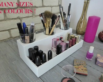 Makeup organizer -many colours & sizes available designed for IKEA Hemnes vanity table - lipstick holder-beauty station-rangement maquillage