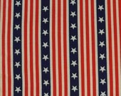 Fabric Traditions - stars and stripes  - 1 yard  -  (YD220)
