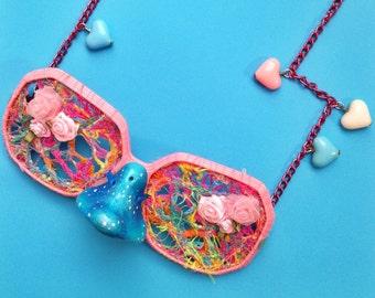 Bespoke Pink Sunglasses Necklace