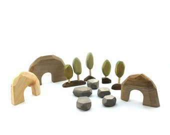Small racing cars, little wooden cars, miniature