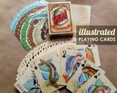 Fish Playing Cards Fly Fishing Poker Deck Illustrated Trout