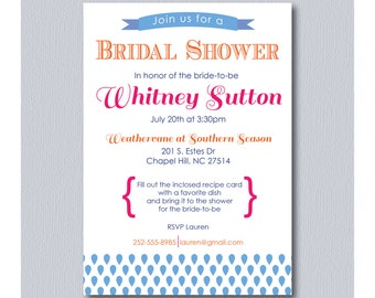 Recipe Shower Invitation