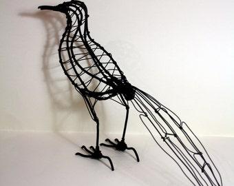 Hand made wire Magpie sculpture