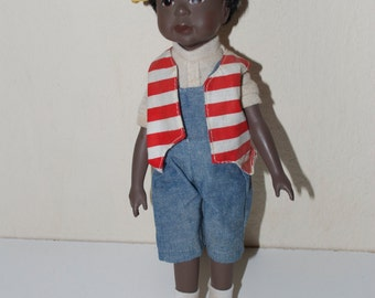Sandy Dolls 1995 African American Black Boy Doll 11""