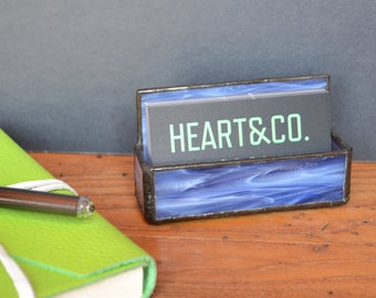 Stained Glass Business Card Holder- Multiple Colors Available / Unique Business Card Holder