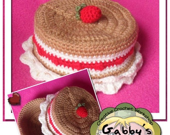 PDF Instant Crochet Pattern - Strawberry Shortcake Treasure Box