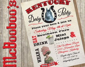 Kentucky Derby Party Poster Invitation