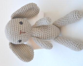 Crochet Long Ear Bunny Rabbit soft toy ONLY - Newborn Photo prop/ Photography prop
