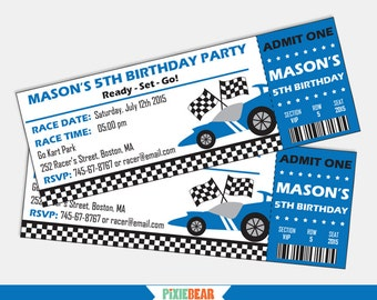 Race Car Birthday invitation - Race Car invitation - Race Car Party - Racing Birthday - Racing Party -Go Kart - Car Party (Instant Download)