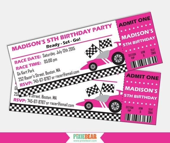 Race Car Birthday invitation Race Car invitation Racing Birthday