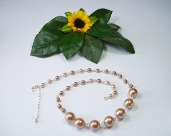 Minimalist pearl necklace short necklace fine necklace wedding necklace necklace for her czech glass pearl necklace jewelry gift for her