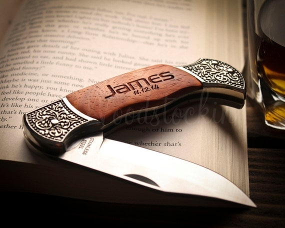 Personalized pocket knife best man gift best by woodstockin for Clever gifts for men