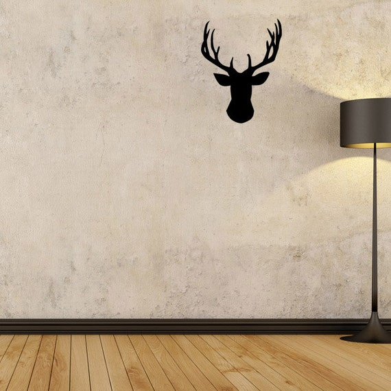 Wall Decal Stag Head Wall Decal Stag Wall Art Hunting