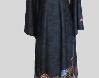 "Vintage 1960's Caftan Dress by ""Edith Flagg/I.Magnin"" / Free U.S. Shipping"