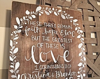 Wedding Sign | Hand Painted Wood Sign | Home Decor | Wood Wedding Sign | Wedding Verse Sign | Aisle Signs | Rustic Wedding Decor