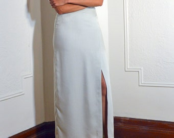 SALE - Mint maxi slit skirt