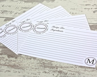 Printable Personalized Recipe Cards - Digital Recipe Cards