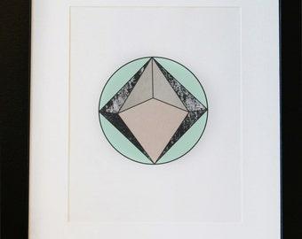 Geometric poster, minimalist print, Abstract poster, Scandinavian print, Modern, Geometric, Wall art printable, Diamond poster, design print