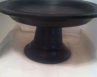 Platter dark wood, multi use in any home and decoration
