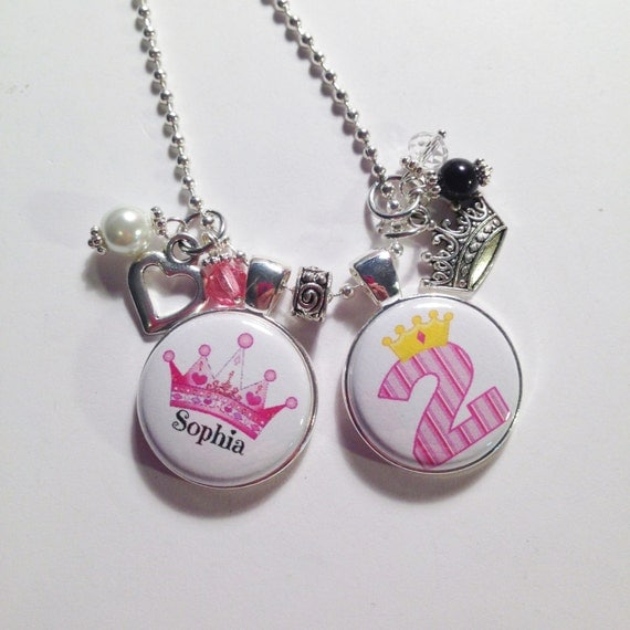 BIRTHDAY GIRL Charm Necklace PRINCESS By AnnmarieJewelryTree