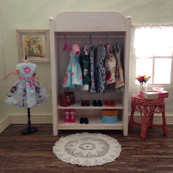 blythe white wood clothes closet wardrobe by gooddollybygolly. Black Bedroom Furniture Sets. Home Design Ideas
