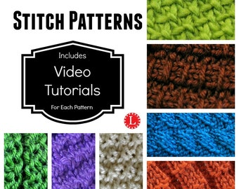 Loom Knitting Stitches PATTERN Open Weave Stitch with Video