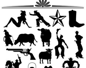 Western Clipart Etsy - Western clipart