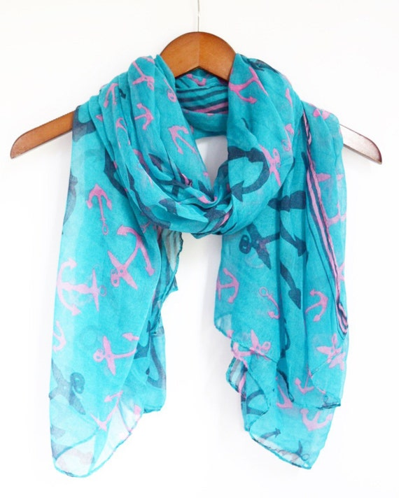 items similar to classic anchor scarf sailor scarf
