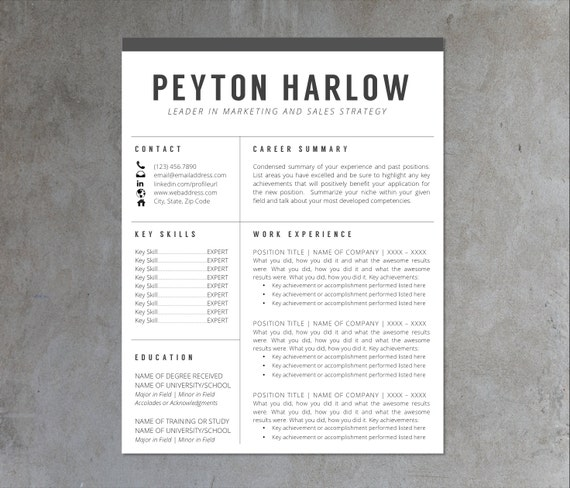Buy resume layout