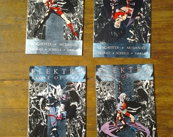 Elektra: The Root of Evil; Vol 1, 1 through 4 Modern Age Comic Book Lot (Full Limited Series).  NM-. 1995.  Marvel Comics