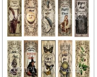 Whimsical potion bottle labels for Halloween! Digital download