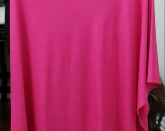 Poncho Nursing Cover in Jewel Pink Stretch Jersey