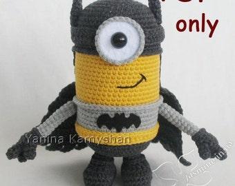 Flying Hero, crochet toy, amigurumi, PDF pattern